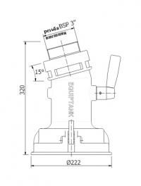Адаптер для гравитационного слива Equiptank API 4