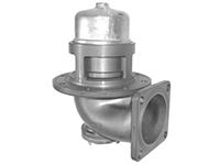 """Пневматический донный клапан 4"""" с компенсацией давления и фильтром из нержавеющей стали"""