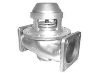 """Пневматический донный клапан 4"""" на 5"""" двухсторонний с фильтром из нержавеющей стали"""